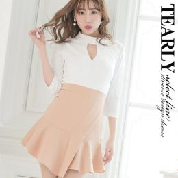 8b6a81a179d62  tearly select line ネックホルターカジュアルリブニット風