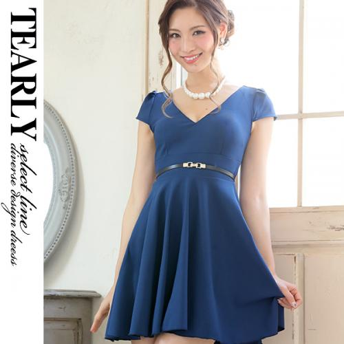【SALE:¥5000OFF】[tearly select line]結婚式対応可・定番お呼ばれフレアミニドレス【dsl1073】